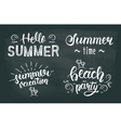 Summer chalk hand lettering set Summer chalk vector image