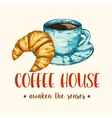Coffee and Croissant vector image