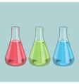 Chemical laboratory glassware vector image