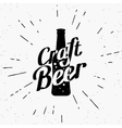 Craft beer black label vector image