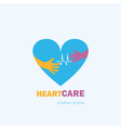 Healthcare and Medical symbol with heart shape vector image