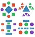 Hierarchy diagrams flowchart infographics vector image
