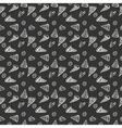 Pattern Pepperoni pizza monochrome vector image