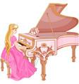 princess playing the piano vector image