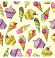 Seamless pattern whith ice cream vector image