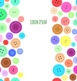 Sewing Buttons Seamless Background vector image