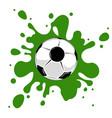 soccer ball green splatter vector image