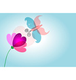 Spring nature love flower butterfly transparent vector image