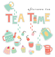 tea time pastel colors vector image