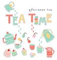 tea time pastel colors vector image