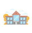 Flat cartoon school building vector image