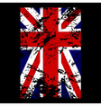 British flag t shirt typography vector image