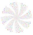 biohazard fireworks swirl flower vector image