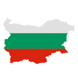 Map and flag of Bulgaria vector image vector image