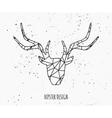 stylized deer head abstract geometric design vector image