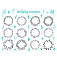 Hand-drawn floral laurel wreathes vector image