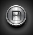 floppy disk icon vector image