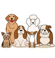dog collection vector image vector image