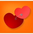 Pinned heart vector image