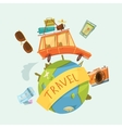 Travel Around The World Concept vector image vector image