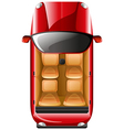 A topview of a red car vector image