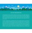 Flat landscape background vector image