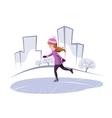 skating vector image