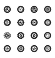 Wheels and Rims icons set vector image