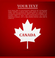 canadian maple leaf with city name canada vector image