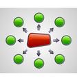 Gloss marketing diagram vector image