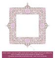 square flower decorative ornaments - lilac vector image