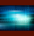 old movie background blue toning vector image vector image