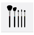 brushes icons vector image vector image