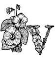 Violet bouquet litera V vector image