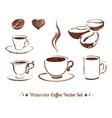 Watercolor coffee vector image