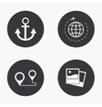 modern travel icons set vector image vector image