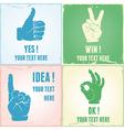 Gesture set vector image
