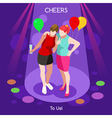 Team Party 05 People Isometric vector image