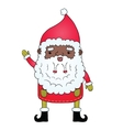 African american Santa Claus vector image