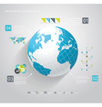Blue Globe and business strategy vector image