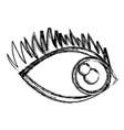 cartoon eye human look watch icon vector image