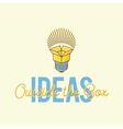 Ideas Outside The Box Abstract Concept Logo vector image