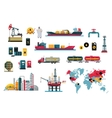 Set of Icons Concept Oil Design vector image
