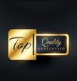 top quality guarantee label design vector image
