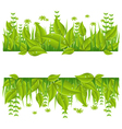 Green eco line with leafs vector image vector image