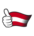 Austrian flag vector image vector image