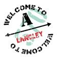 Langley stamp rubber grunge vector image