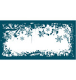 winter grunge floral background vector vector image