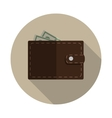 Flat Design Concept Wallet vector image