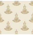 christmas candle flower pattern seamless vector image